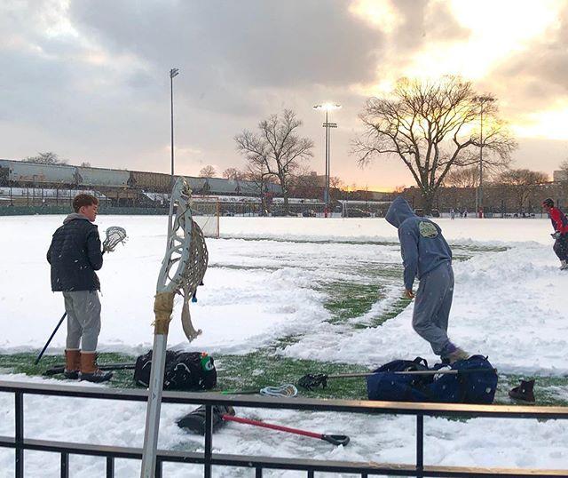 Winter lacrosse OPRF style!  @eastavelacrosse #oprflax @ecdlax @nike.lacrosse.official @tlnnation