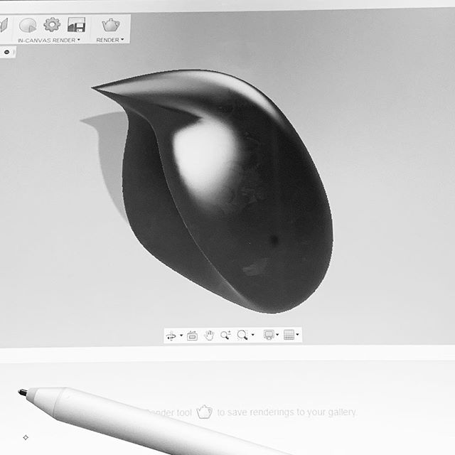 'Was sketching most of the day but popped into #Fusion360 to play with forms for a second! Forgot my mouse but the Surface Pro and pen worked surprisingly well for this quick bird form!