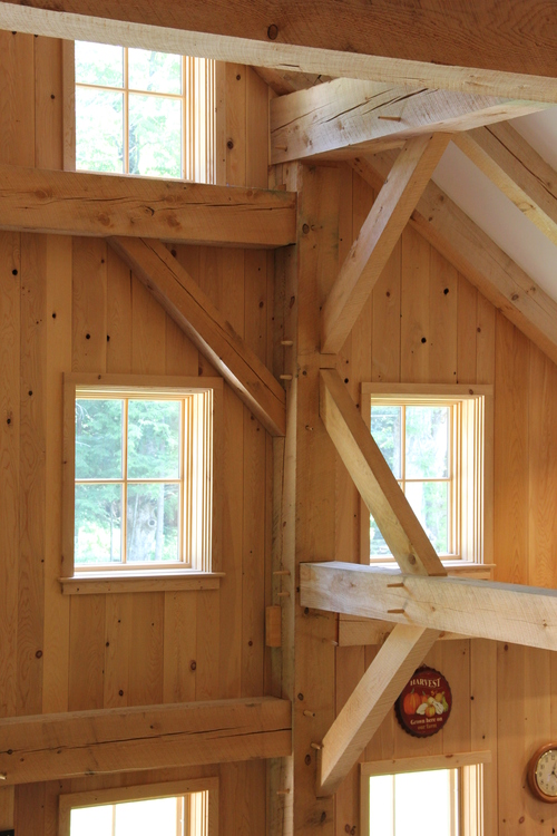 Timber frame barn-style house