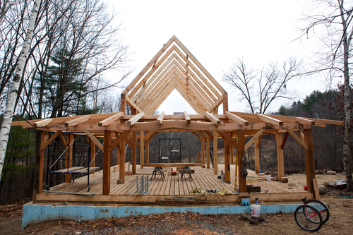Native Wood timber frame house