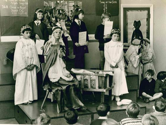 Nativity Production in the Infant Hall - 1966?