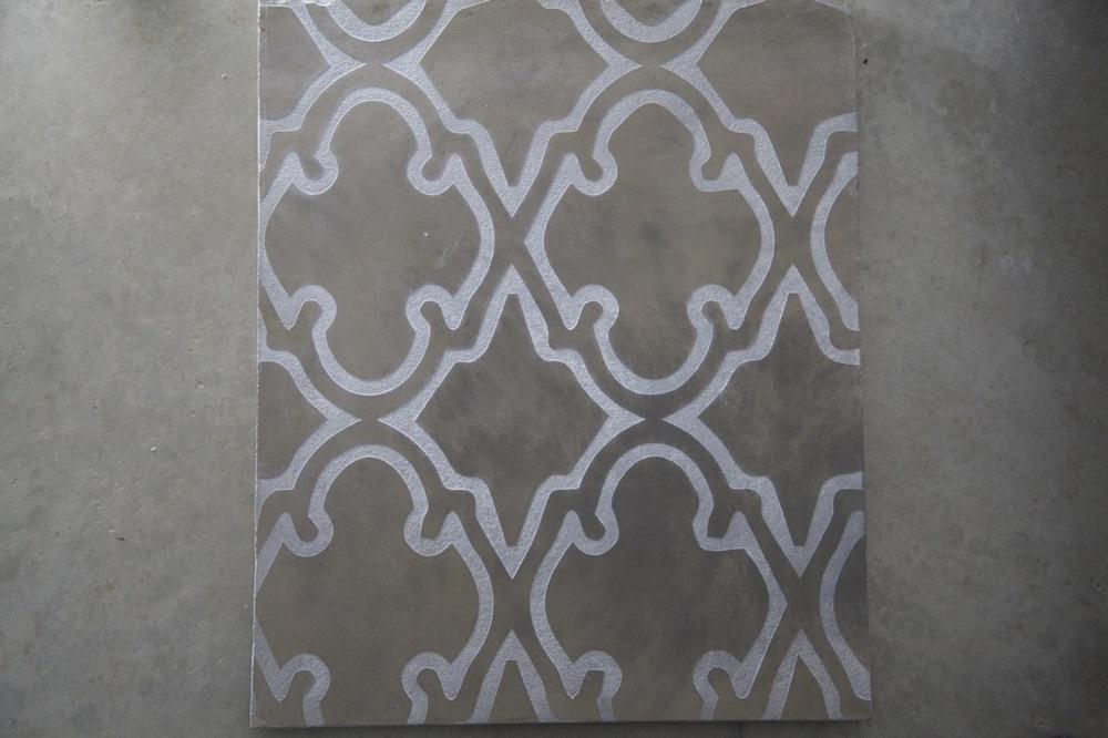 Etched Concrete Pattern