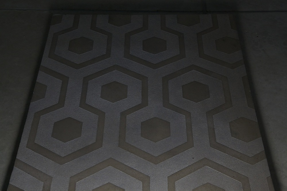 Etched Concrete Geometric Pattern