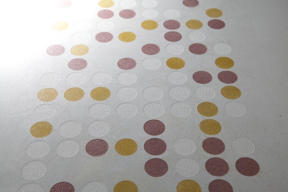 Etched Concrete Coloured Dots