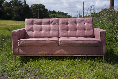 Picture of a moulded concrete sofa