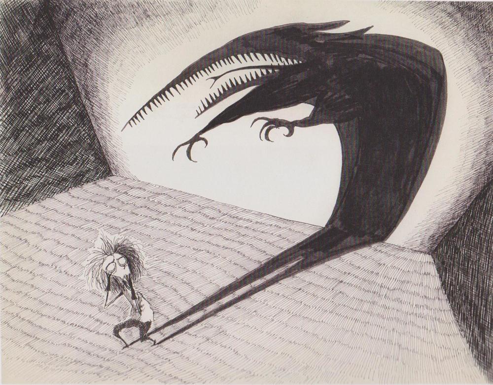 Drawing by Tim Burton