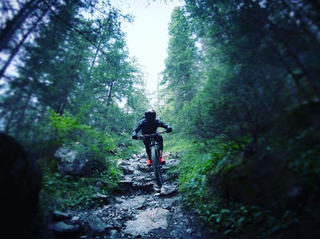 Technical section after a @rideprogression session. Riding feels a bit different, but not too bad. ... Thanks for the tickets @lenzerheide_bikepark ... #mountainbike #freeride #mtb #singletrail #outdoor #goprohero6 #mtbnation #mtblife #enduromtb #plantbasedathlete #MountainBiking #mtblove #instamtb #lifebehindbars #mtbswitzerland #enduro #mountainbikinglife #flowtrail #lifeofadventure #liveoutdoors #makemoments #simplyadventure #bikemagazin #adventuretillwedie #welivetoexplore #neverstopexploring #fullgasmtb