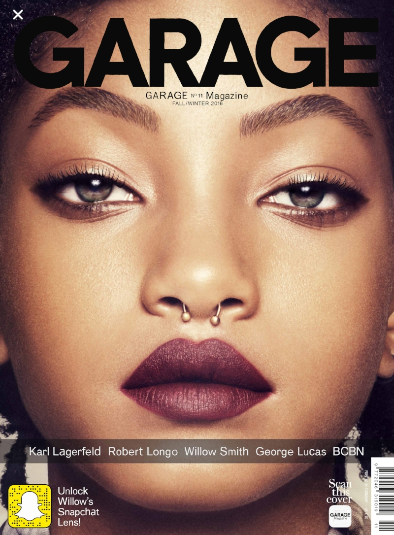 Willow Smith has grown up before our eyes. Poised and confident she whipped her hair into our heads, though it was her poise and effortless cool that tugged at our hearts.   As I walked along a Soho street, taking a phone calls and mapping out my next errand, I was stopped in my tracks when I noticed this gorgeous face on the cover of Garage Magazine. I paused only to realize it was Willow Smith! Not only had Willow taken my breath away on the cover of I-D Magazine, she and her brother Jaden personified unique individuality, elegance, freedom and sibling style.  Willow and Jaden are as chic as it gets - Miss Willow is one to watch, the girl is pure beauty!