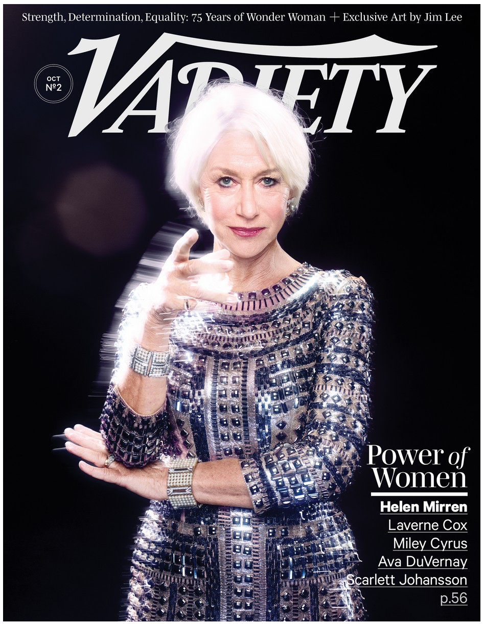 "HELEN MIRREN  Salary disparity has also become a hot topic recently. What's your take on it? It's such a complicated issue. How much money your last movie made, how many days you'll spend doing the role. It's not as simple as saying, ""I want parity."" Of course, if there are a man and a woman on a set, and they're doing the same number of days, and they're of the same stature, then of course they should be paid the same. And it's a hard thing to talk about, too, because obviously you're not going to get much sympathy from people, since we're talking about pretty massive sums of money. Which I think is why women in general, rather sweetly, said, ""I've got enough money, that's fine."" Men didn't. I love the fact that women are speaking up. I thought what Jennifer Lawrence did was fabulous, and what Patricia Arquette did. They're brave and I really approve of that. I certainly do believe that the influence of the younger energy, the younger understanding, of how things should be, or can be — or actually are, only you guys haven't caught up with it yet — is powerful. I would say: Listen to the 20- to 30-year-olds."