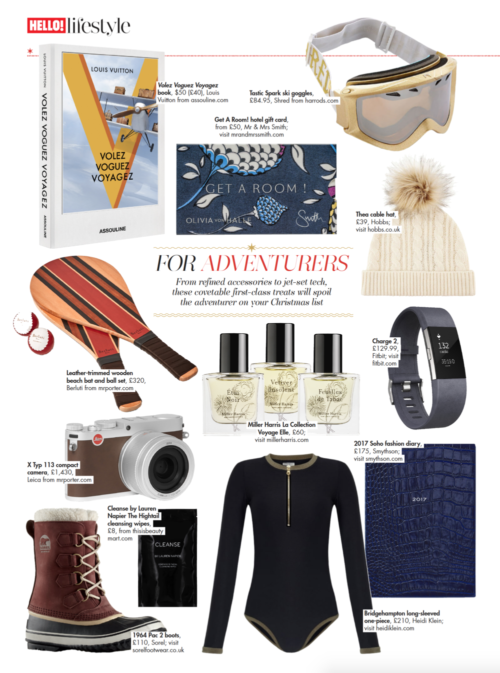 Hello Magazine Christmas Gift Guide, 6th Decmeber 2016.png