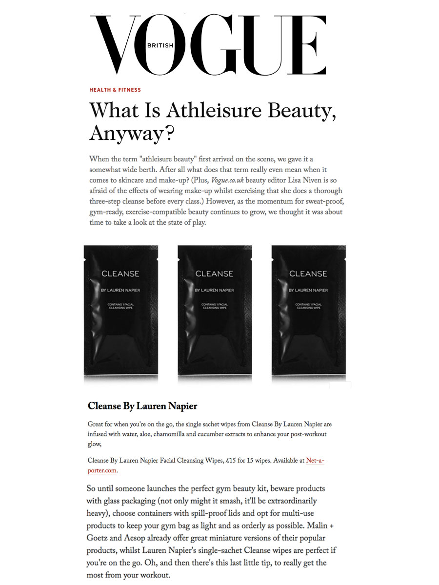 British Vogue - What Is Athleisure Beauty, Anyway?