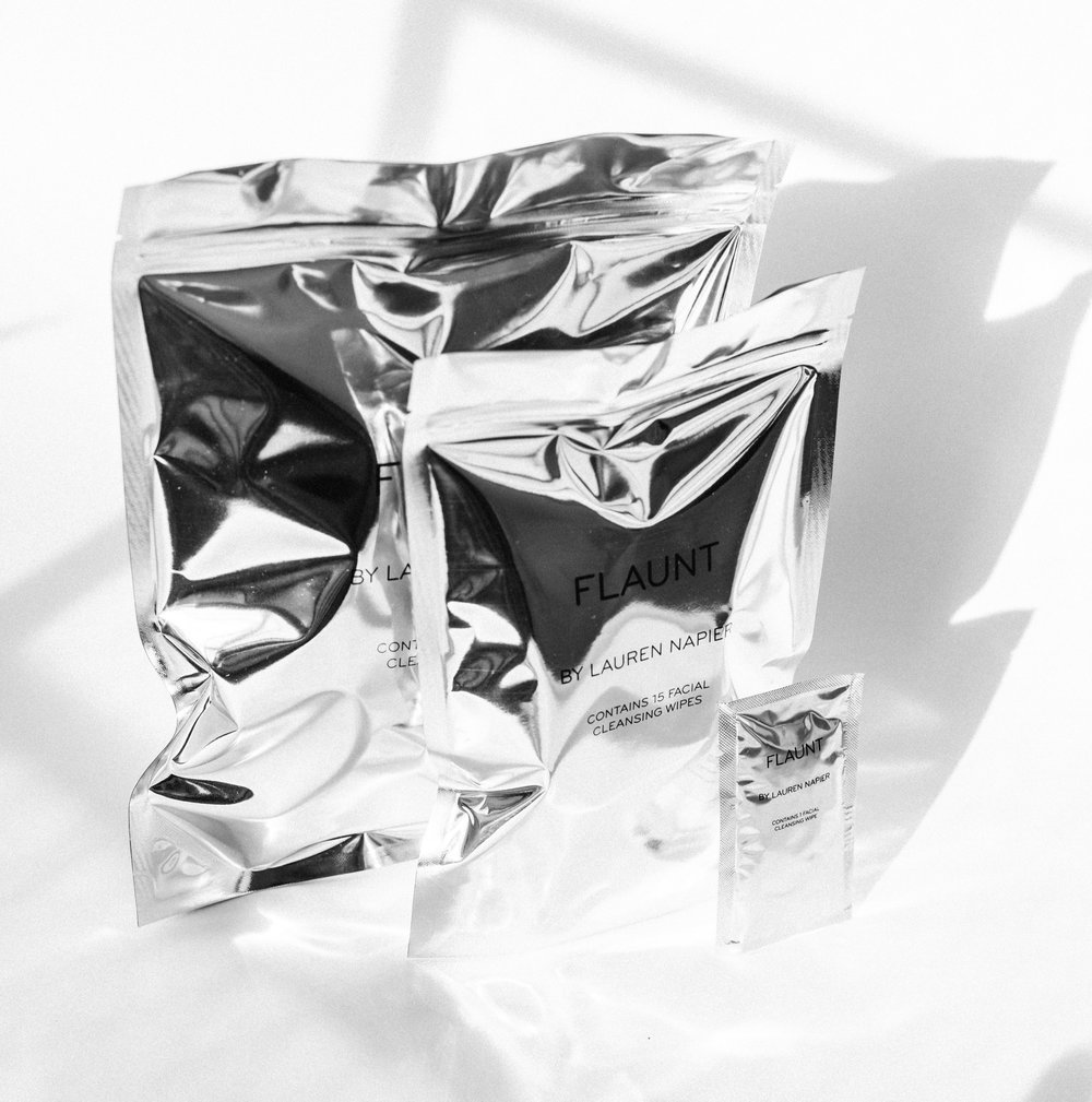 Anti-aging is over.Welcome FLAUNT by LAUREN NAPIERThe first pro-aging makeup remover. -