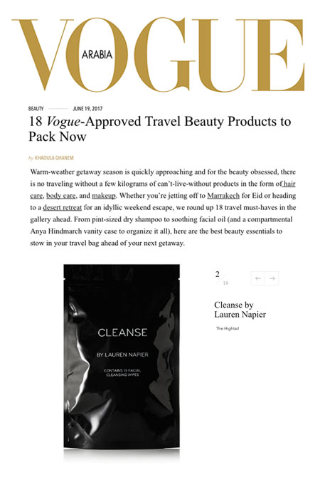 Vogue Arabia, CLEANSE by LAUREN NAPIER