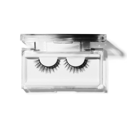 908755fe513 How to apply false eyelashes? Remove lashes from the container. Apply a  pearl-sized, droplet of glue to a flat surface. Dip the tweezer into the  glue, ...