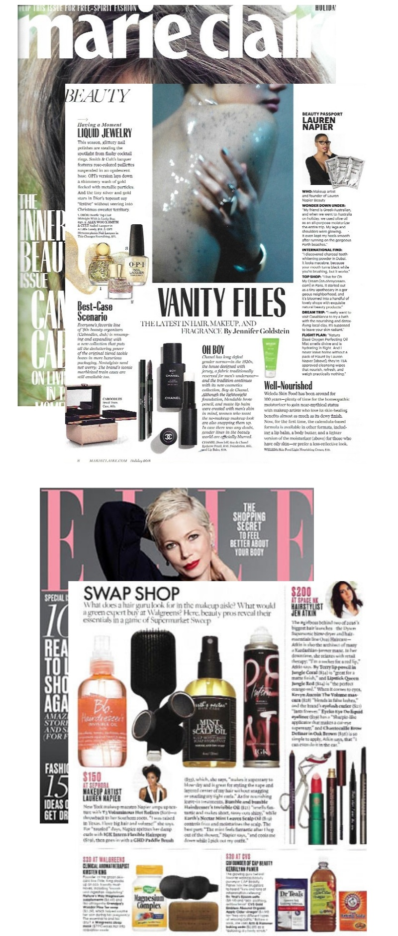 LAUREN NAPIER MARIE CLAIRE COSMO IN THE PRESS BUSINESS WOMAN