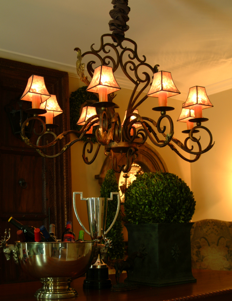 Savoy Chandelier with shades