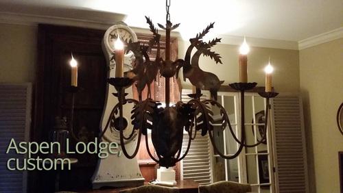 Aspen lodge chandelier iron lighting designs by bree aspen lodge chandelier aloadofball Image collections