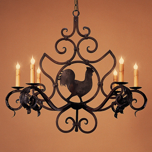 Rooster medallion small iron lighting designs by bree rooster medallion small aloadofball Images