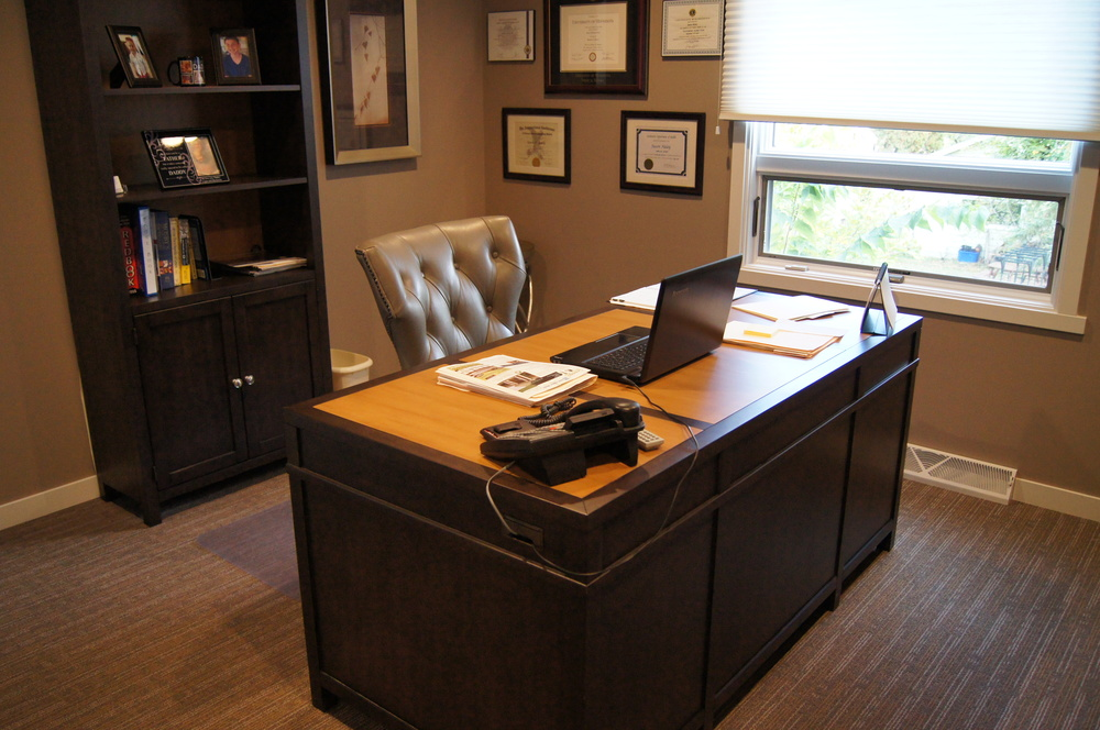 DIRECTOR'S OFFICE DESK + SHELVING
