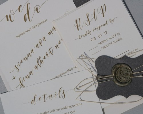 Pearl White Invitation Suite