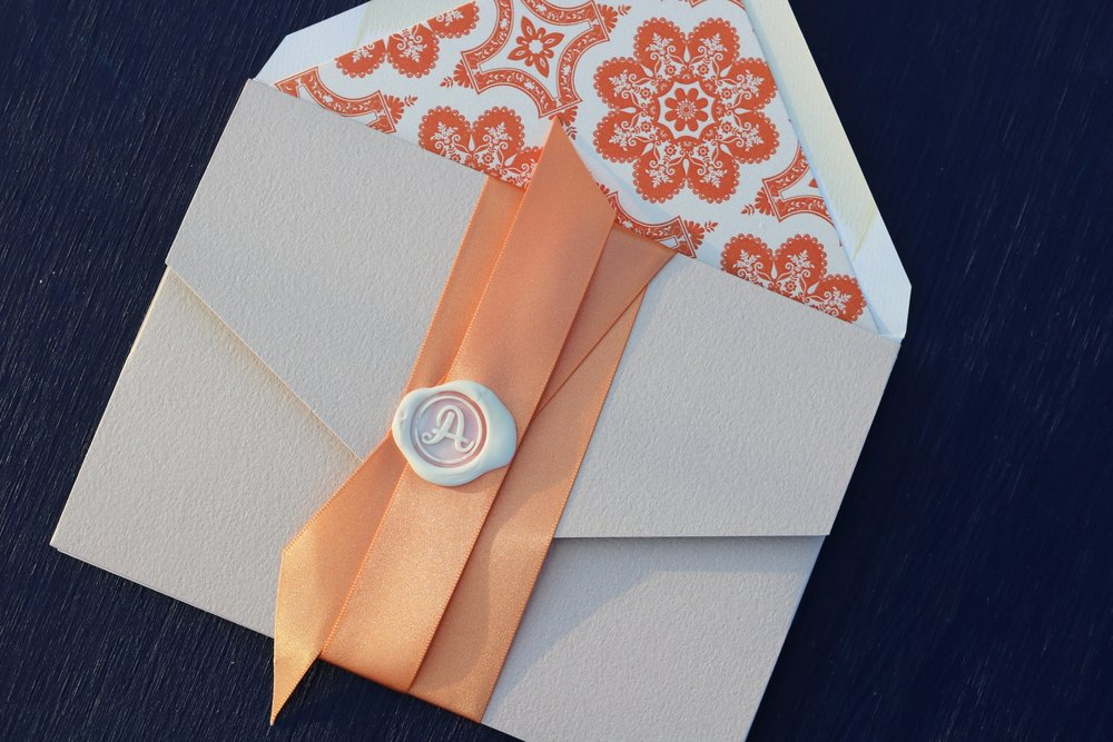 Textured Pocket Invitation