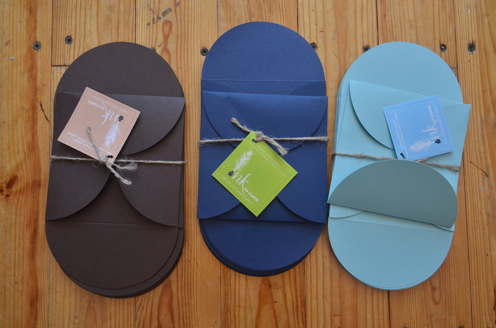 matte petal gate fold | available in colors shown $1.55 each