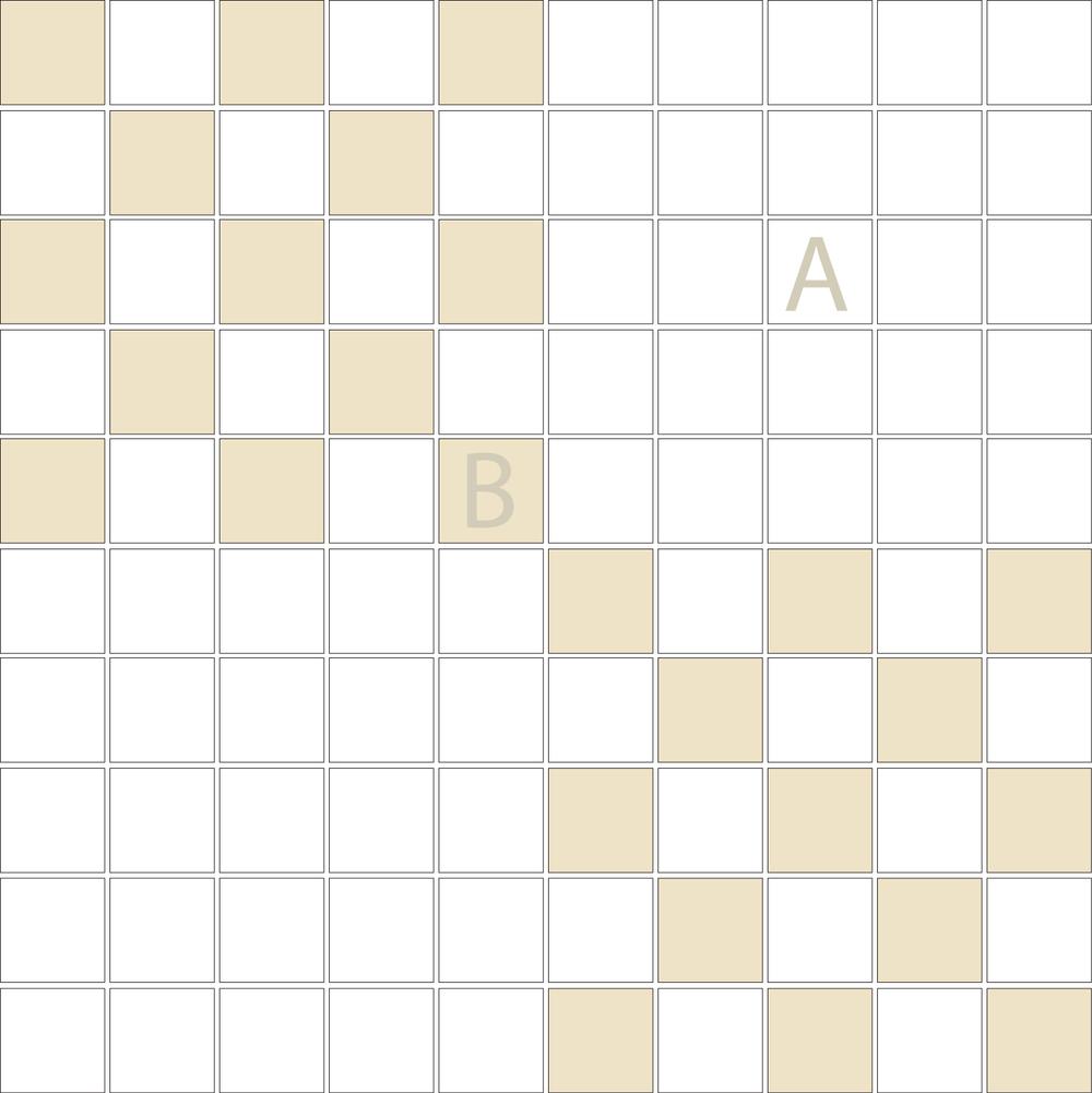 "TESSERA Handcrafted Mosaics  2 Color Designs- CHECKERBOARD  Square1""x1"" TMK-12(1 sheet)"