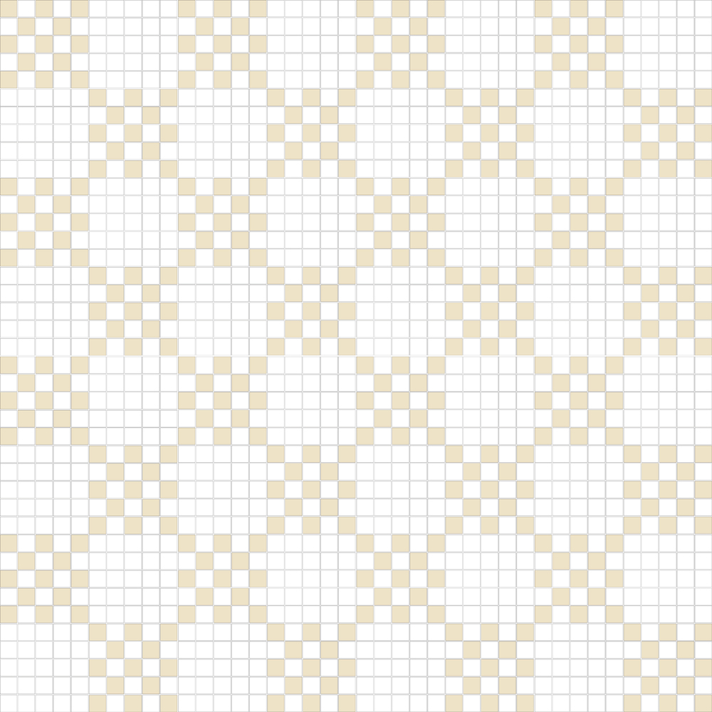 "TESSERA Handcrafted Mosaics  2 Color Designs - CHECKERBOARD  Square 1""x1""  TMK-12  Design Projection: 16 Sheets (44""x44"")"