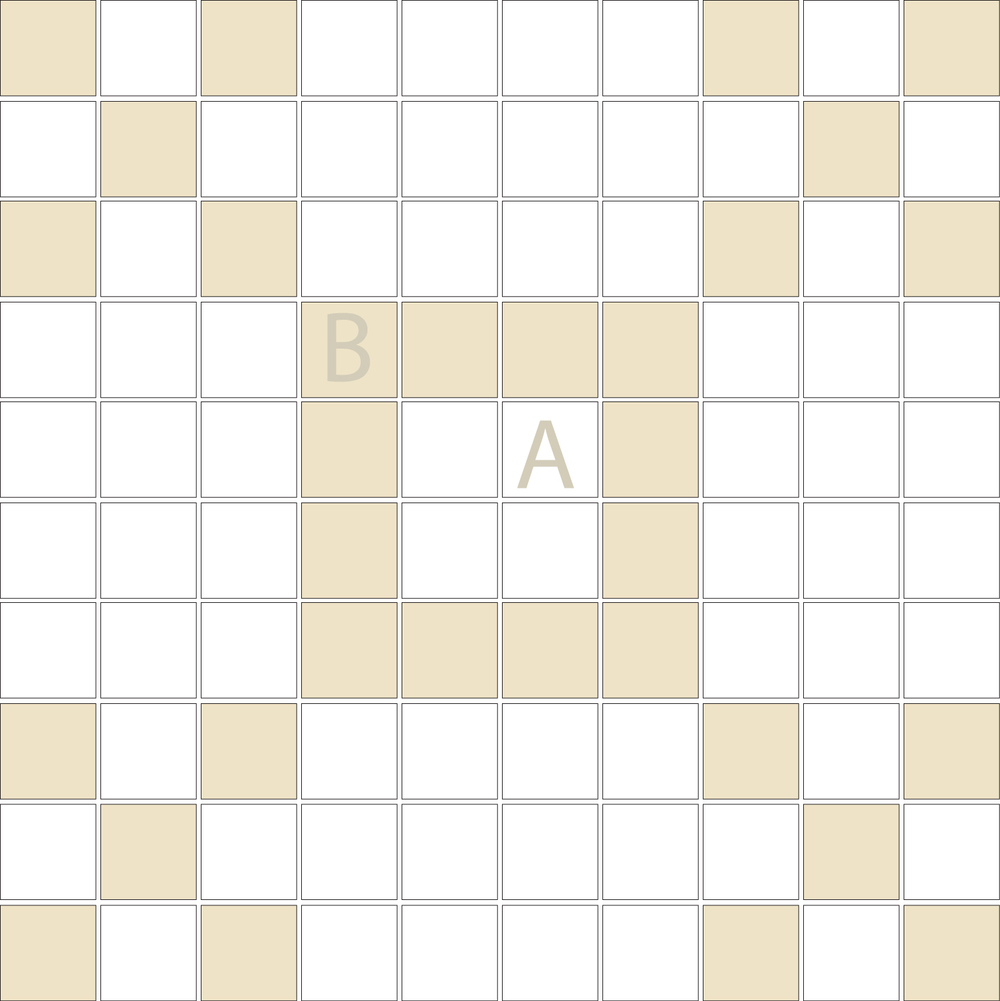 "TESSERA Handcrafted Mosaics  2 Color Designs- CHECKERBOARD  Square1""x1"" TMK-14(1 sheet)"