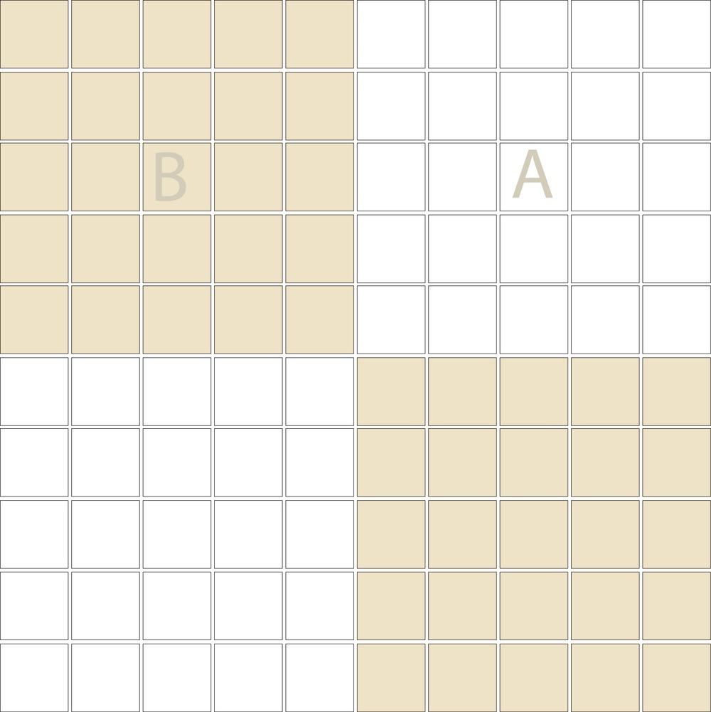 "TESSERA Handcrafted Mosaics  2 Color Designs- CHECKERBOARD  Square1""x1"" TMK-15(1 sheet)"