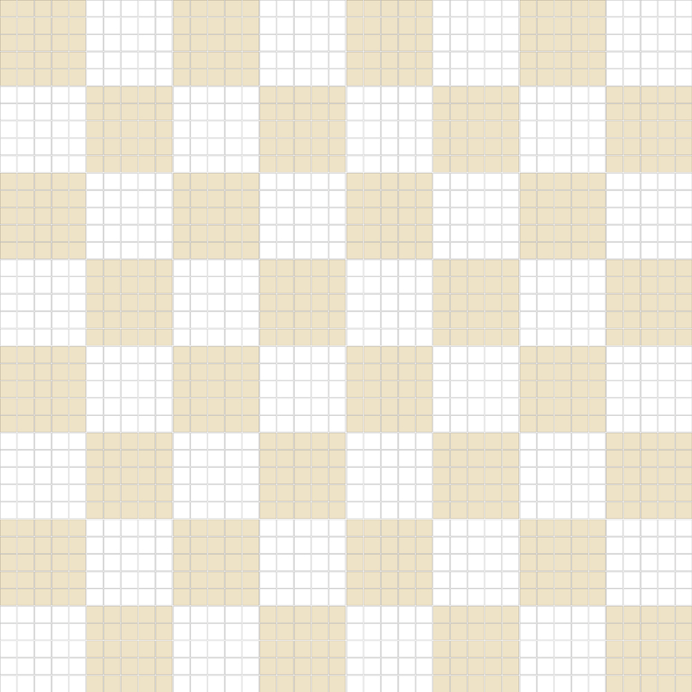"TESSERA Handcrafted Mosaics  2 Color Designs - CHECKERBOARD  Square 1""x1""  TMK-15  Design Projection: 16 Sheets (44""x44"")"
