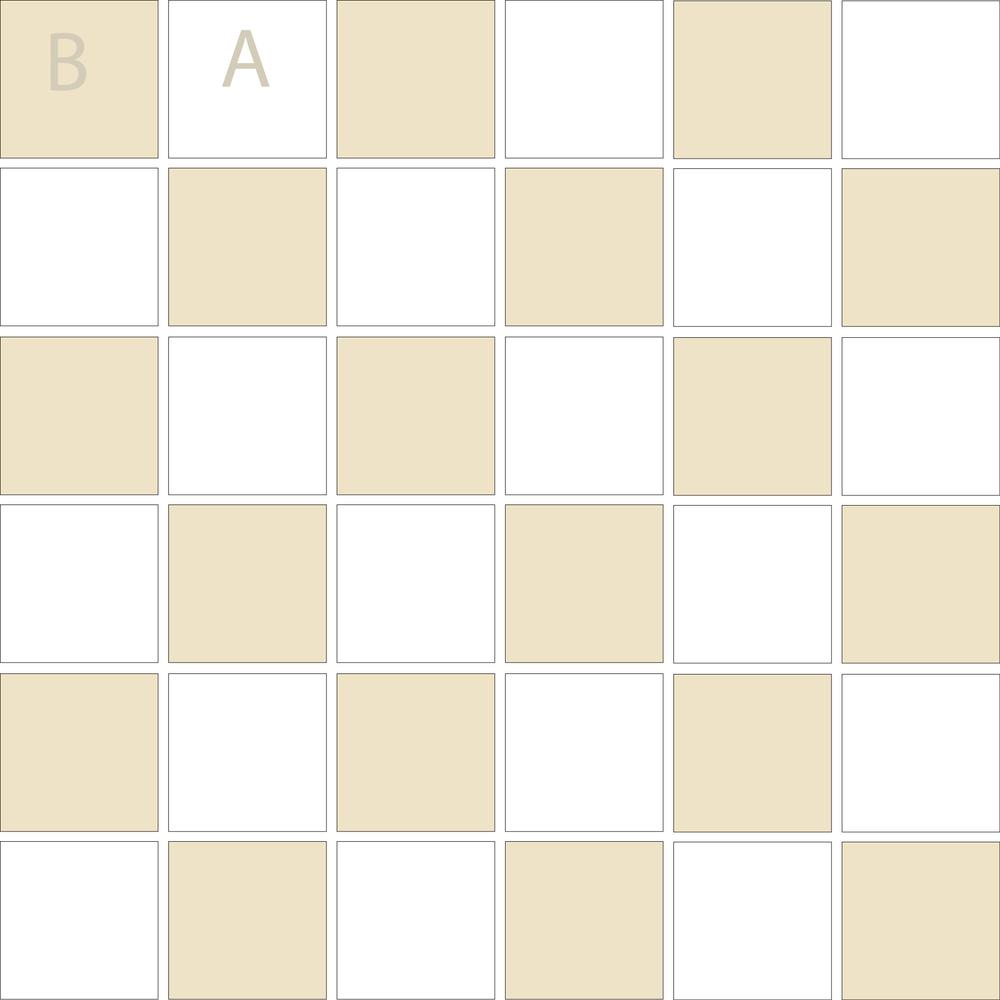 """TESSERA Handcrafted Mosaics  2 Color Designs- CHECKERBOARD  Square2""""x2"""" TMK-21"""
