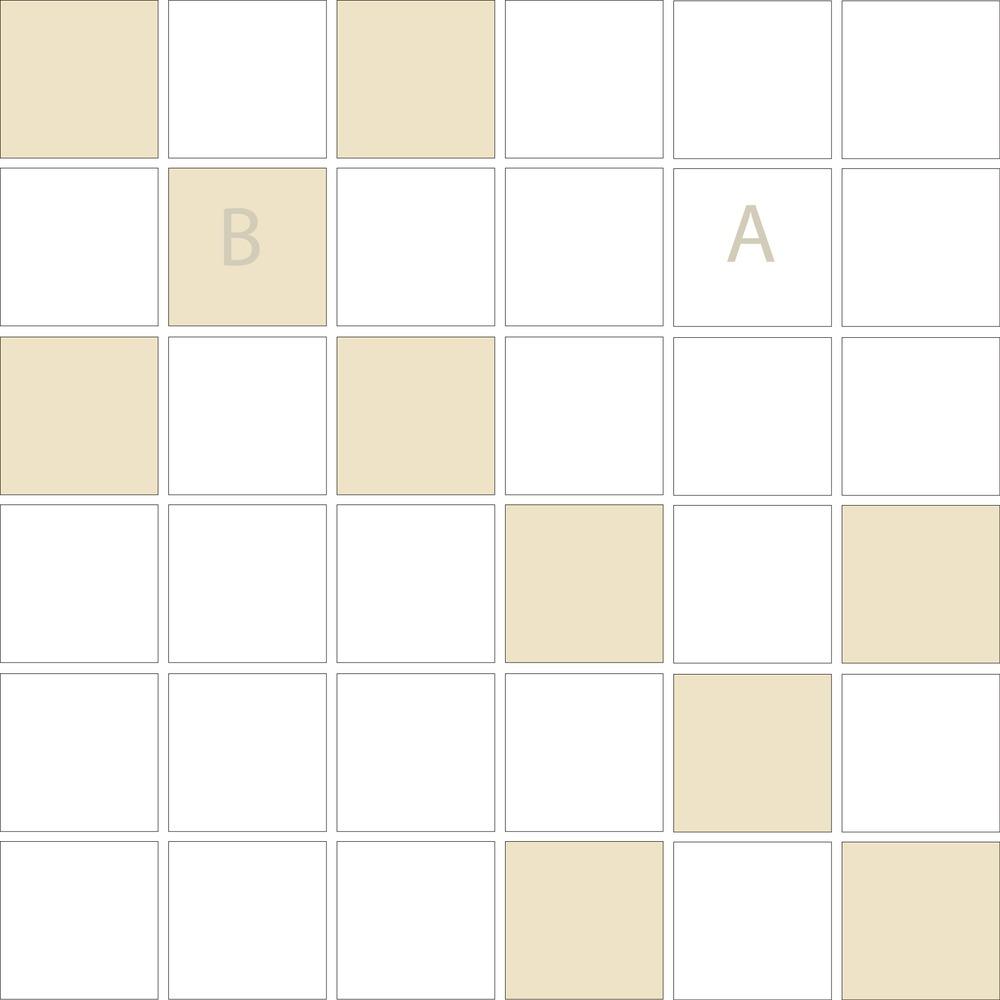 """TESSERA Handcrafted Mosaics  2 Color Designs- CHECKERBOARD  Square2""""x2"""" TMK-22"""