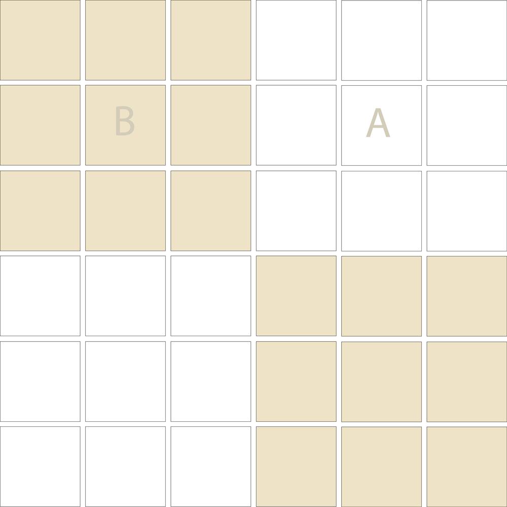 """TESSERA Handcrafted Mosaics  2 Color Designs- CHECKERBOARD  Square2""""x2"""" TMK-25"""