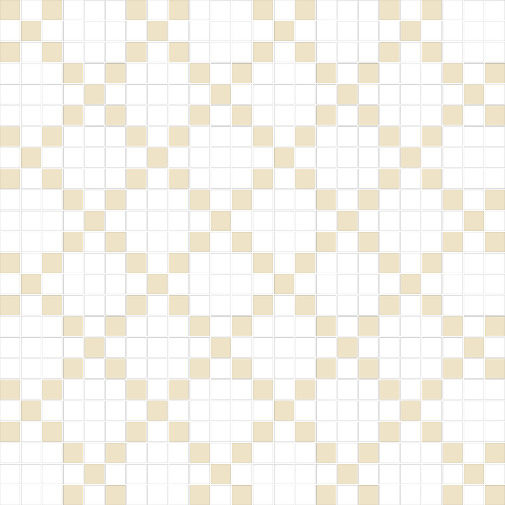 "TESSERA Handcrafted Mosaics  2 Color Designs - CHECKERBOARD  Square 1""x1""  TMK-22  Design Projection: 16 Sheets (50""x50"")"