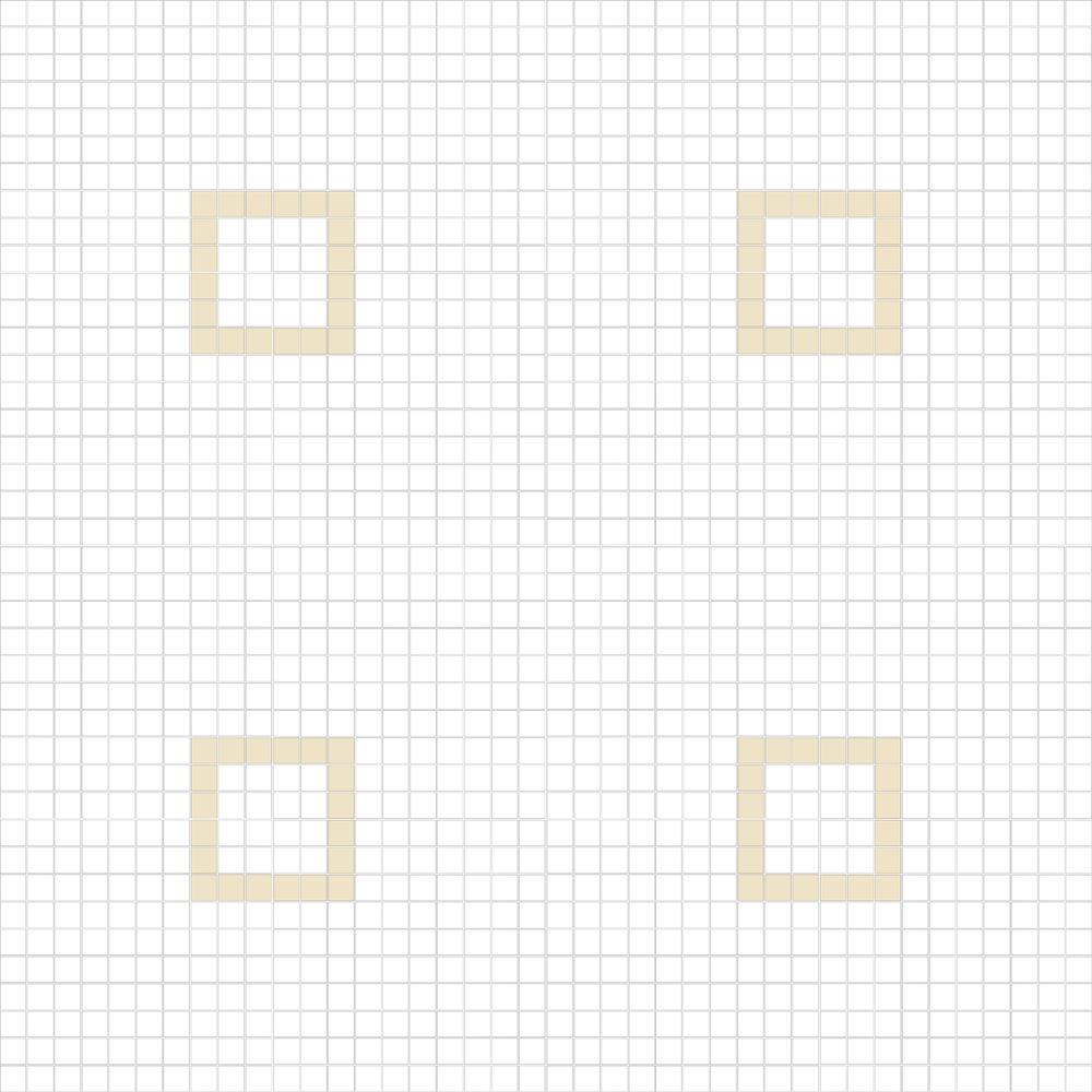 """Square 1""""x1""""  TMC-13 (16 sheets)"""