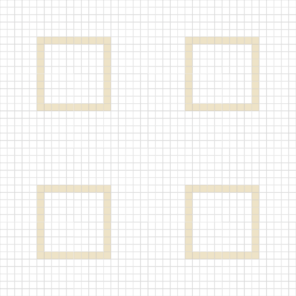 """Square 1""""x1""""  TMC-16 (16 sheets)"""