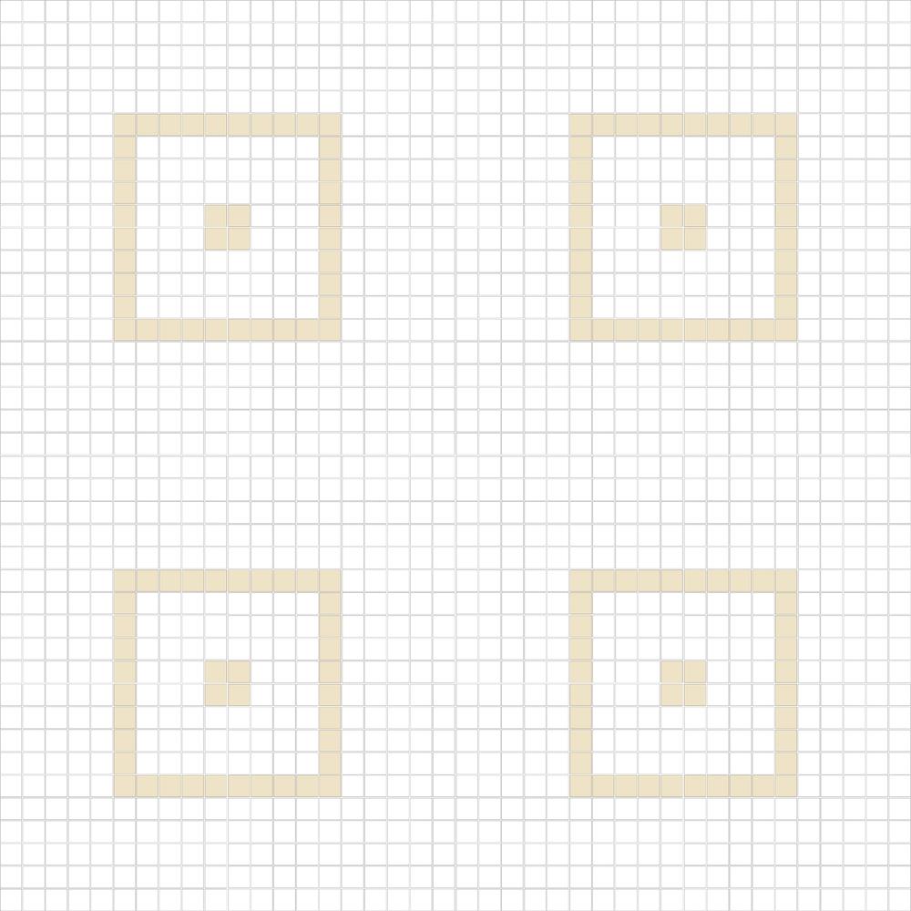 """Square 1""""x1""""  TMC-17 (16 sheets)"""
