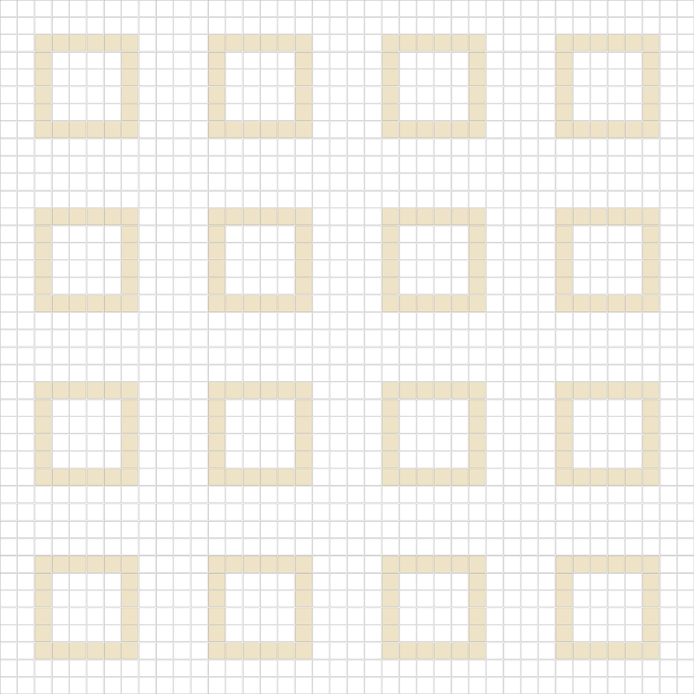 "Square 1""x1""  TMF-11 (16 sheets)"