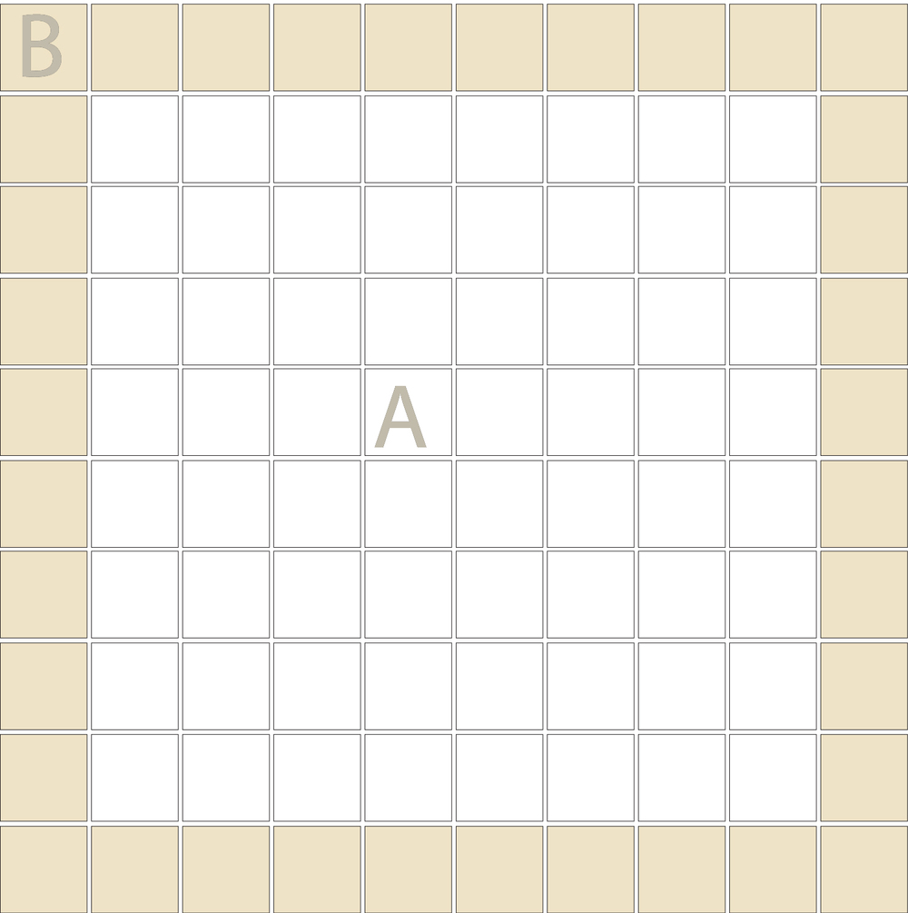 "TESSERA Handcrafted Mosaics  2 Color Designs- FRAMES  Square1""x1"" TMF-13(1 sheet)"