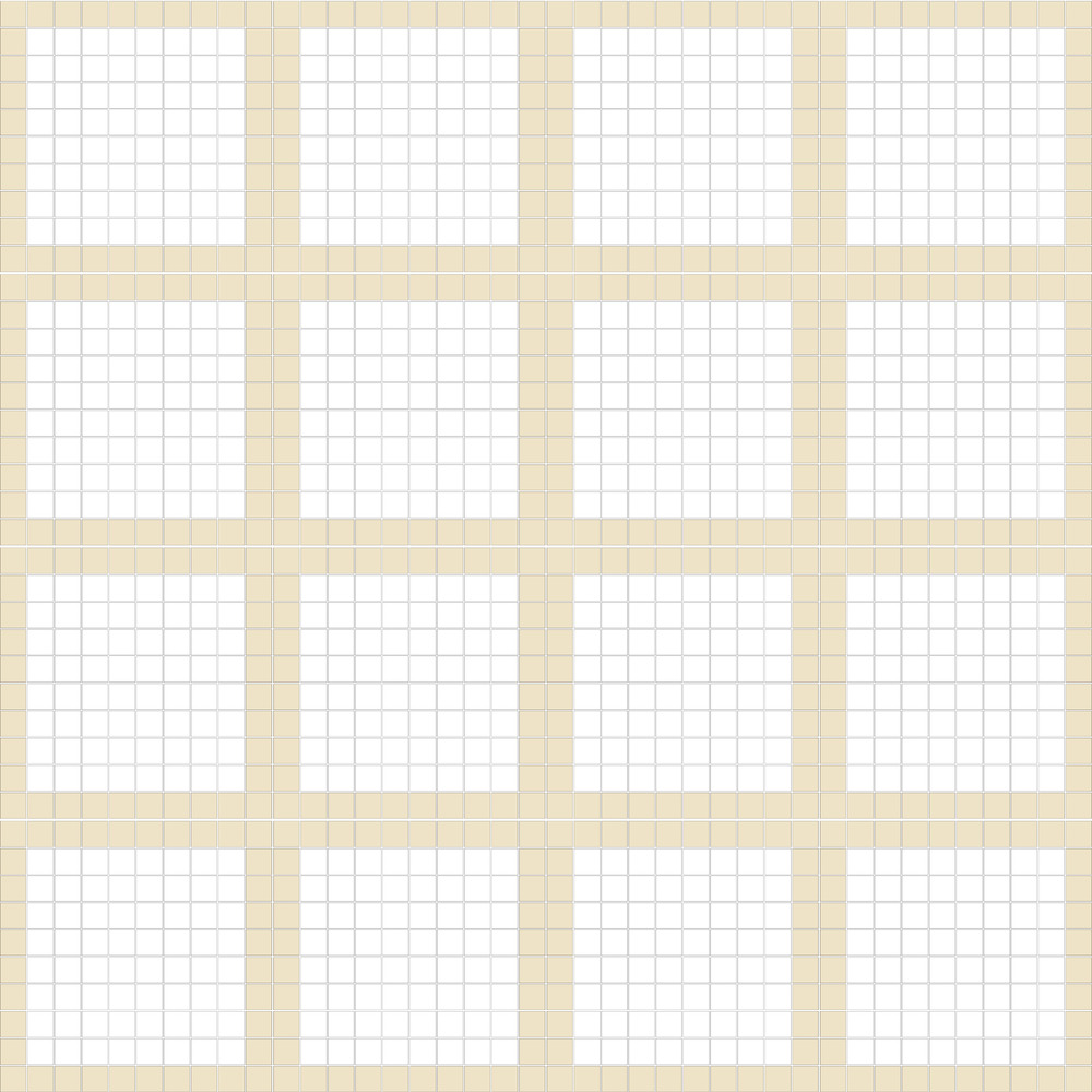 "TESSERA Handcrafted Mosaics  2 Color Designs - FRAMES  Square 1""x1""  TMF-13  Design Projection: 16 Sheets (44""x44"")"