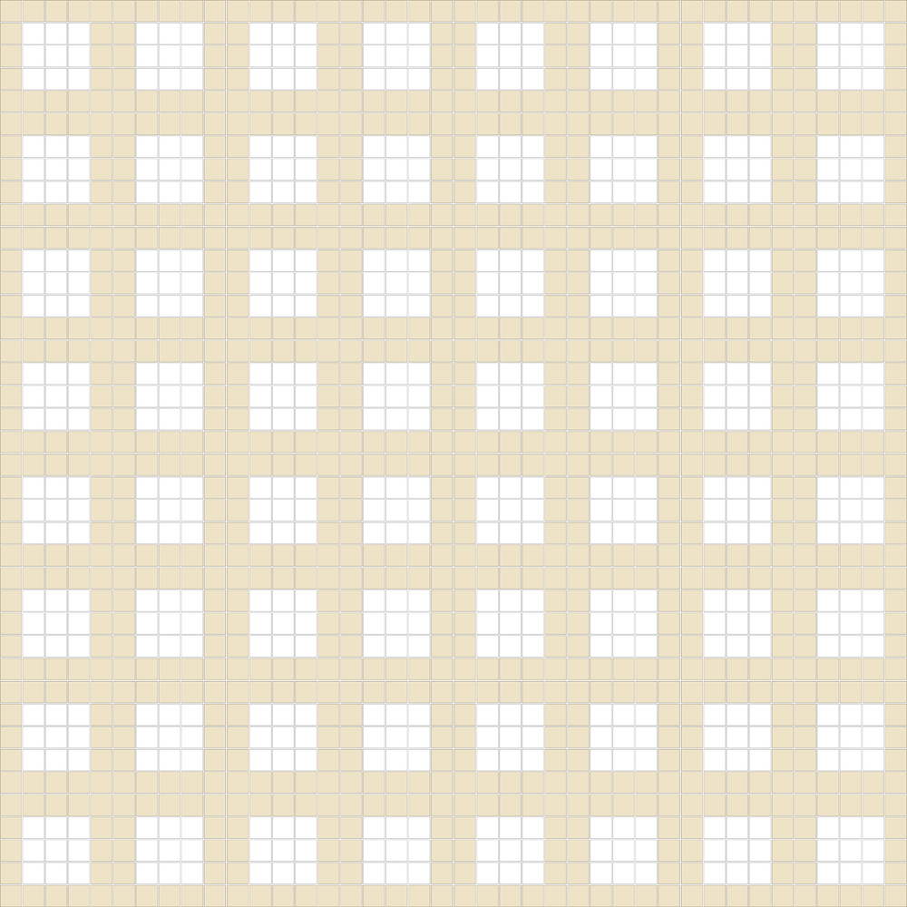 """TESSERA Handcrafted Mosaics  2 Color Designs- FRAMES  Square1""""x1"""" TMF-17  Design Projection: 16 Sheets (44""""x44"""")"""