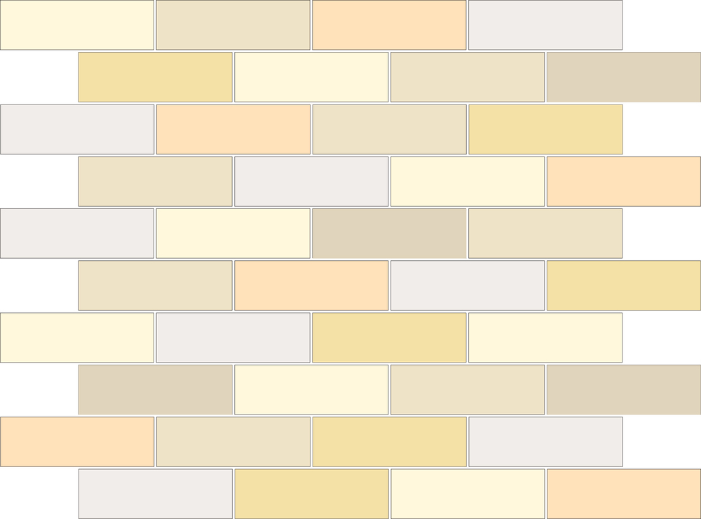 "TESSERA Handcrafted Mosaics  Multicolor - Random (3 to 9 colors)  Rectangle 1""x3""  BK-TMM   -  Mesh Size (nominal): 11""x12-1/2""     - Coverage: 40 pcs/mesh =   0.95 SF/mesh  =  1.05 mesh/SF"