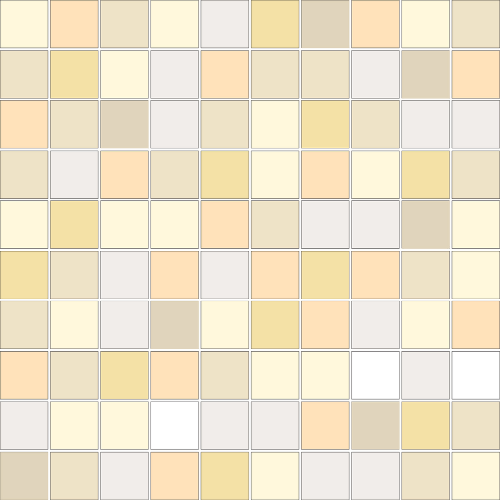 "TESSERA Handcrafted Mosaics  Multicolor - Random (3 to 9 colors)  Square 1""x1""  ST-TMM   -  Mesh Size (nominal): 11""x11""     - Coverage: 100 pcs/mesh =   0.84 SF/mesh  =  1.19 mesh/SF"