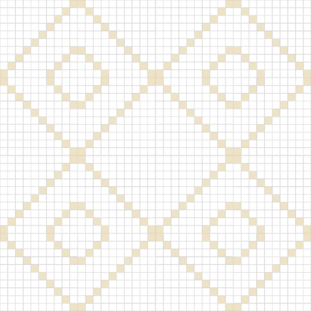 "TESSERA Handcrafted Mosaics  2 Color Designs - DIAGONAL  Square 1""x1""  TMD-12  Design Projection: 16 Sheets (44""x44"")"
