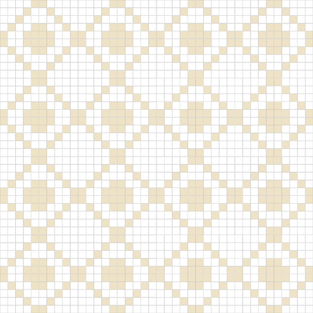"TESSERA Handcrafted Mosaics  2 Color Designs - DIAGONAL  Square 1""x1""  TMD-18  Design Projection: 16 Sheets (44""x44"")"
