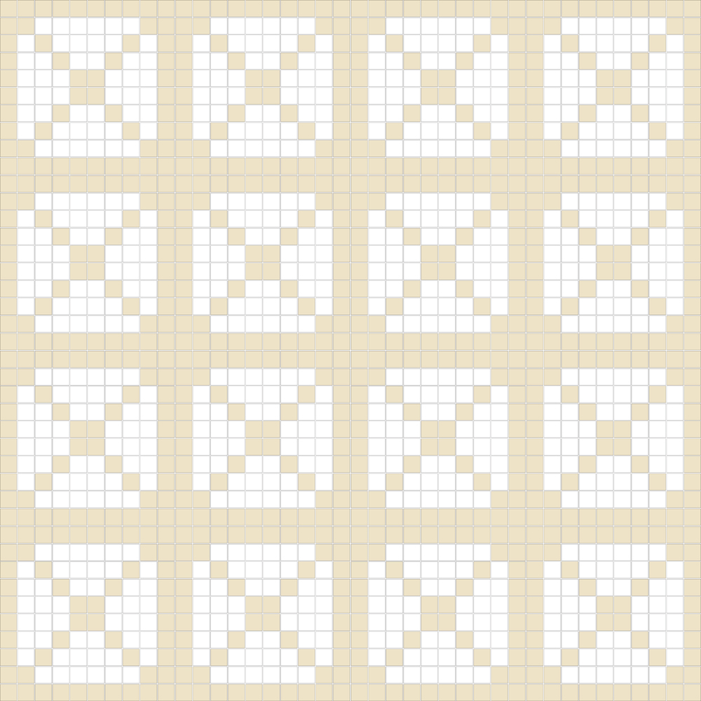 "TESSERA Handcrafted Mosaics  2 Color Designs - DIAGONAL  Square 1""x1""  TMD-39  Design Projection: 16 Sheets (44""x44"")"