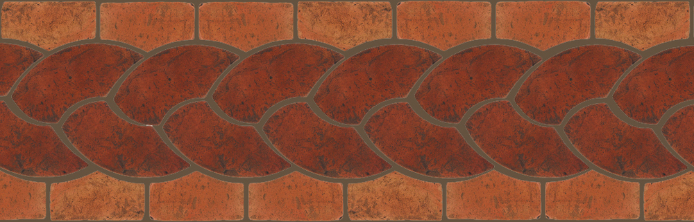 "Pedralbes Terracotta P&C:  BORDERS: ROPE (L+R) + ROPE BORDER ""R""  Pattern # PFB-112  Option: VTG-PSOW + VTG-PSTR"