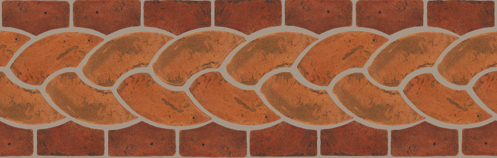"Pedralbes Terracotta P&C:  BORDERS: ROPE (L+R) + ROPE BORDER ""R""  Pattern # PFB-112  Option: VTG-PSTR + VTG-PSOW"