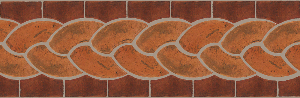 "Pedralbes Terracotta P&C:  BORDERS: ROPE (L+R) + ROPE BORDER ""R""  Pattern # PFB-125  Option: VTG-PSTR + OHS-PSOW"